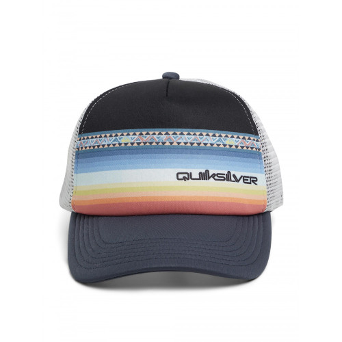 Quiksilver Youth Hat - Sun Faded Trucker - India Ink