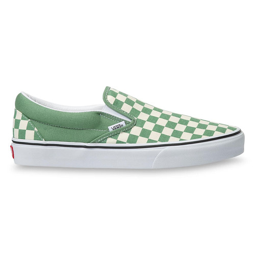 Vans Women's Shoes - Classic Slip-On - Checkerboard Shale/True White