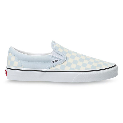Vans Women's Shoes - Classic Slip-On - Checkerboard/Ballad Blue