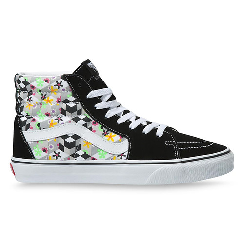 Vans Shoes - Sk8-HI - Checker Cube Black/True White