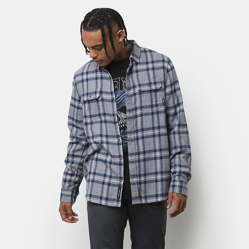 Vans Shirt - Westminster Woven LS - Frost Grey/Dress Blues