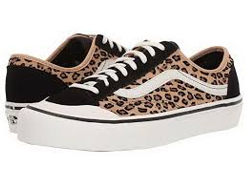 Vans Shoes - Style 36 Deacon SF - (Mini Leopard) Suede/Marshmallow