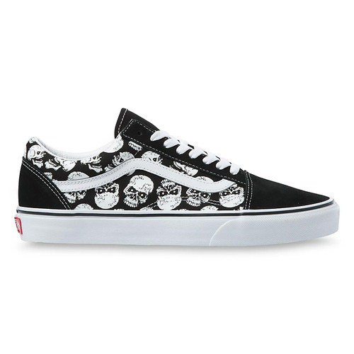 Vans Shoes - Old Skool - Skulls/Black/White
