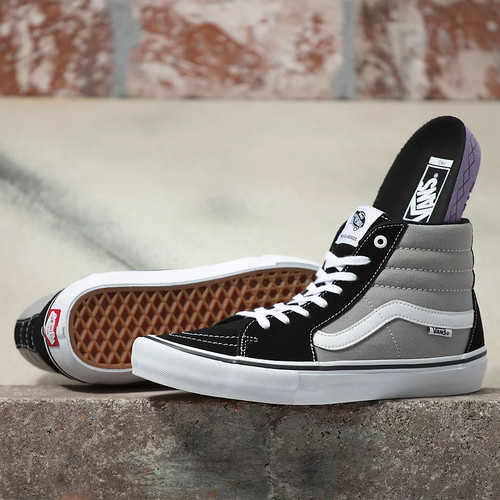 Vans Shoes - Sk8-Hi Pro - Nation Black/Silver