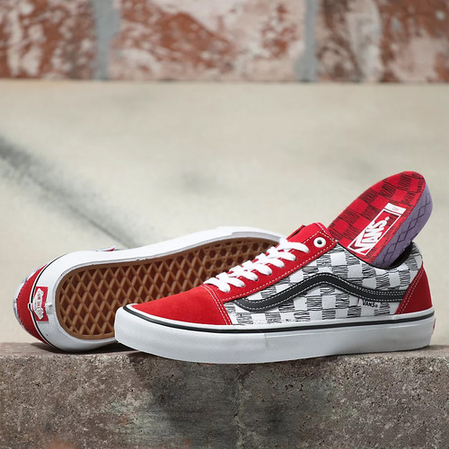 Vans Shoes - Old Skool Pro - Sketchy Checker/Red