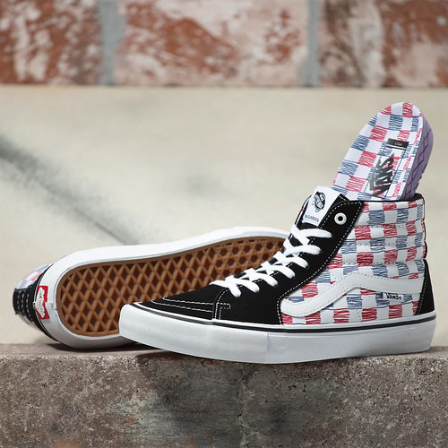 Vans Shoes - Sk8-Hi Pro - Sketchy Checker/White