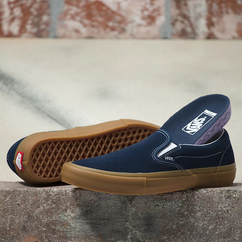 Vans Shoes - Slip-On Pro - Navy/Gum