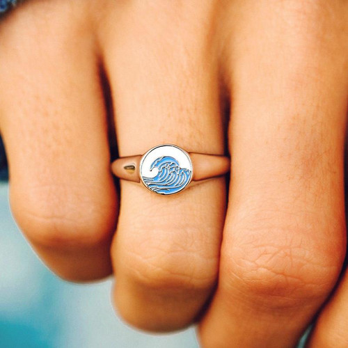 Pura Vida Ring - Make Waves Signet - Silver