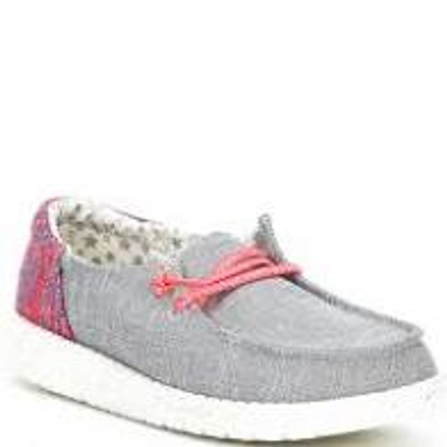 Hey Dude Youth Shoes - Wendy - Funk Grey