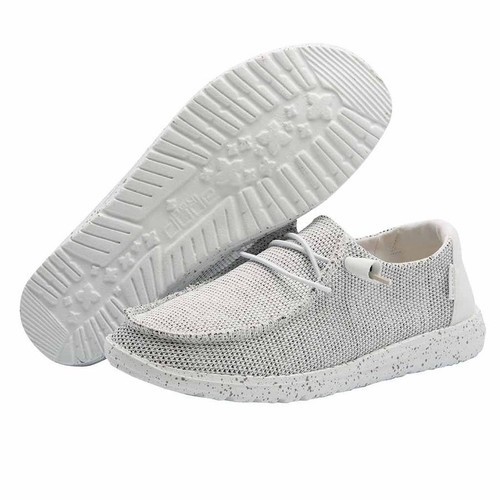 Hey Dude Women's Shoes - Wendy Sox - Stone White