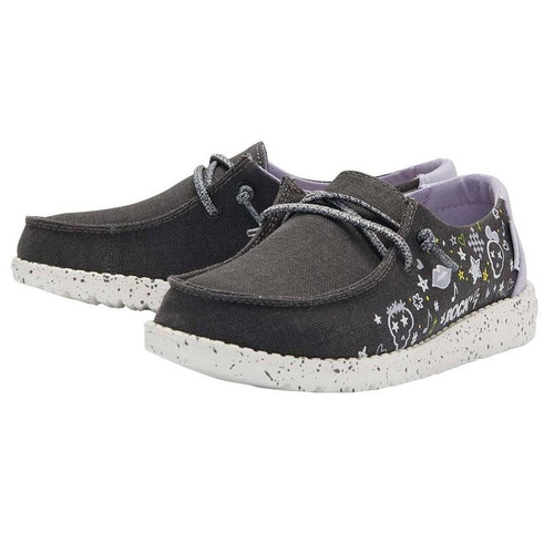 Hey Dude Youth Shoes - Wendy - Doodle Black