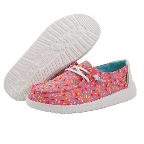 Hey Dude Youth Shoes - Wendy - Pink Sprinkles