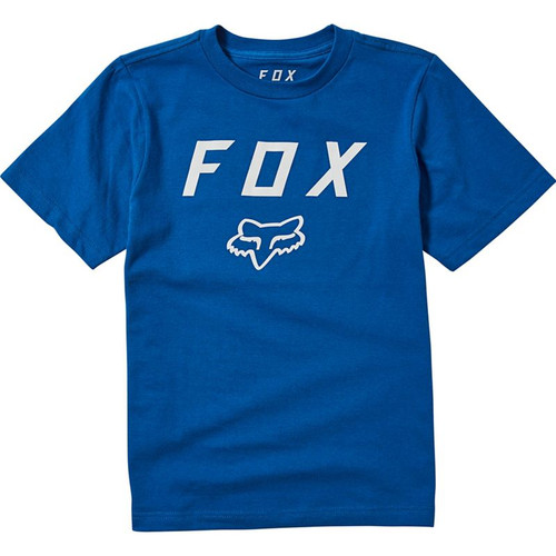 Fox Youth Tee Shirt - Legacy Moth - Royal Blue
