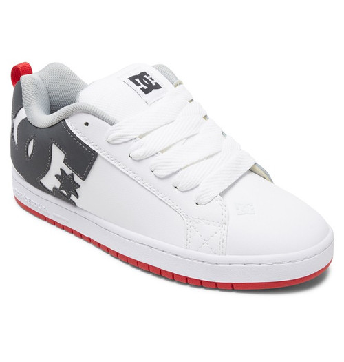 DC Shoes - Court Graffik - White/Grey/Red
