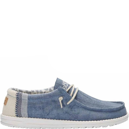 Hey Dude Shoes - Wally Linen - Natural Blue