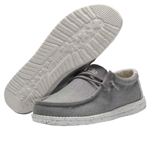Hey Dude Shoes - Wally Chambray - Frost Grey