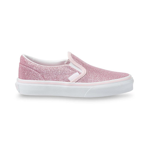 Vans Youth Shoes - Classic Slip-On - Glitter/Blushing Bride/White