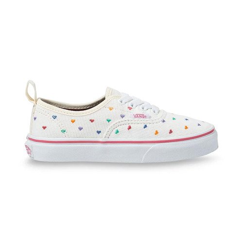 Vans Youth Shoes - Authentic Elastic Lace - Rainbow Cord/White