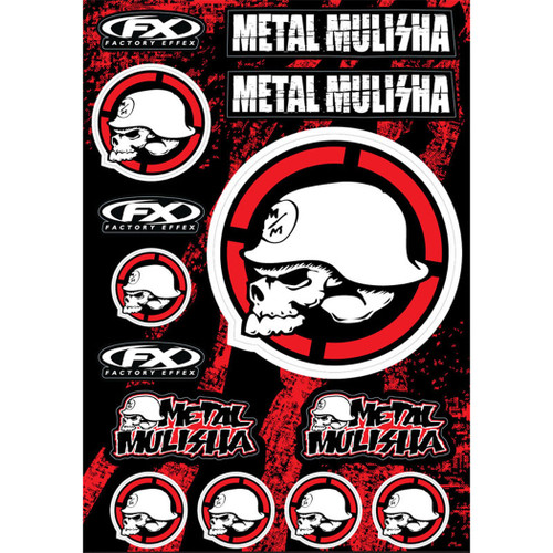 Factory Effex Decals - Metal Mulisha Target - Decal Sheet