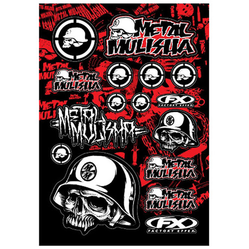 Factory Effex Decals - Metal Mulisha - Red