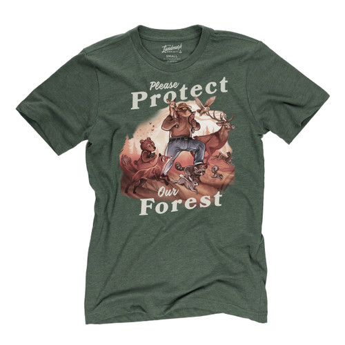 Landmark Tee Shirt - Protect Our Forest - Conifer