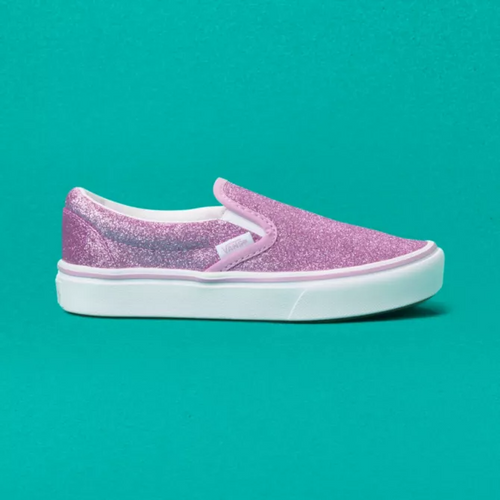 Vans Youth Shoe - ComfyCush Slip-On - Glitter Orchid/White