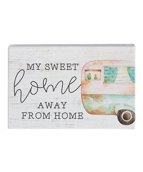 Sincere Surroundings Sign - My Sweet Home - White