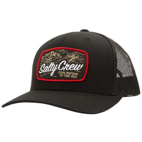 Salty Crew Hat - Tuna Isle Retro Trucker - Black