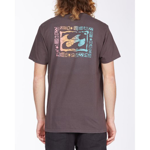 Billabong Tee Shirt - Crayon Wave - Charcoal