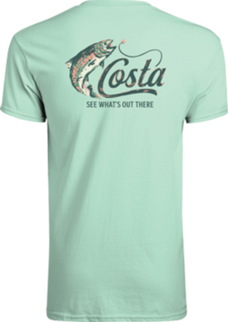 Costa Tee Shirt - Casting Trout - Chill