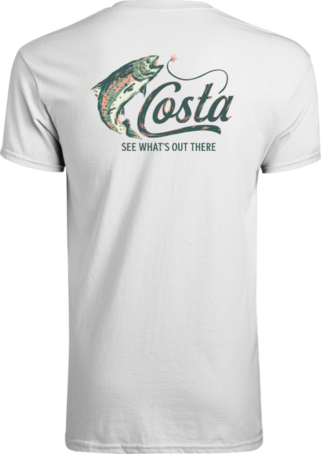 Costa Tee Shirt - Casting Trout - White