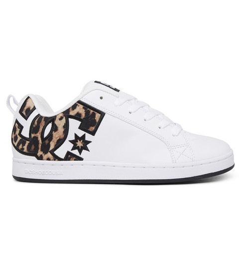 DC Women's Shoes - Court Graffik - Leopard Print