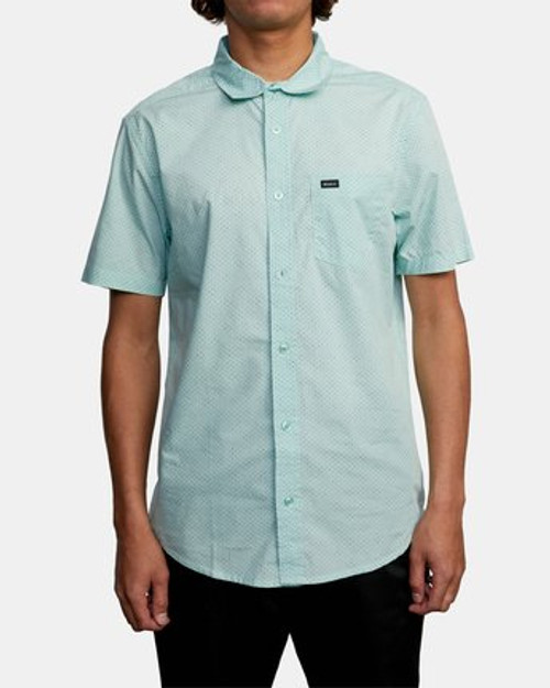 RVCA Shirt - Carlo Dot - Ice Blue