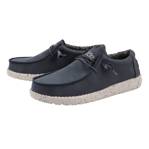 Hey Dude Shoes - Wally Recycled Leather - Navy