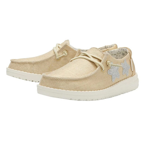 Hey Dude Youth Shoes - Wendy - Star Gold