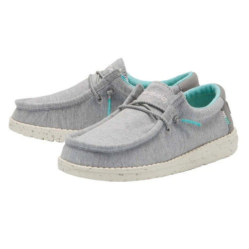 Hey Dude Youth Shoes - Wally Stretch - Grey
