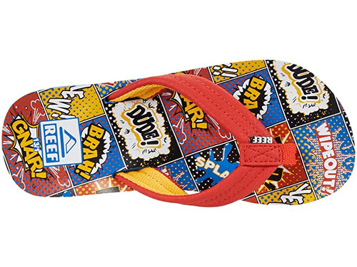 Reef Youth Flip Flop - Little Ahi - Comic Book