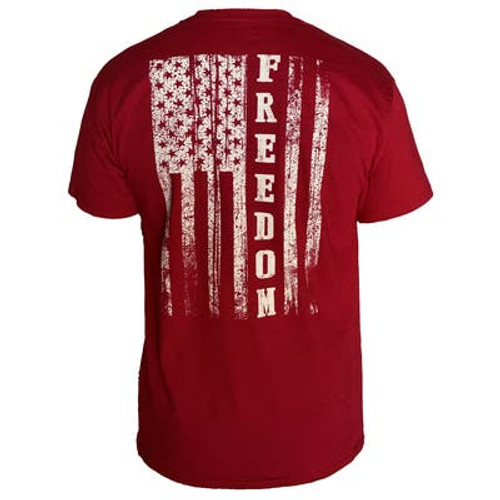 Country Life Outfitters - Freedom Flag - Cardinal Red
