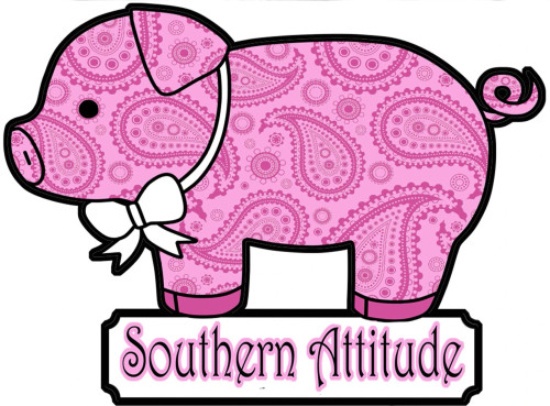 Southern Attitude Decal - Pig Decal - Pink