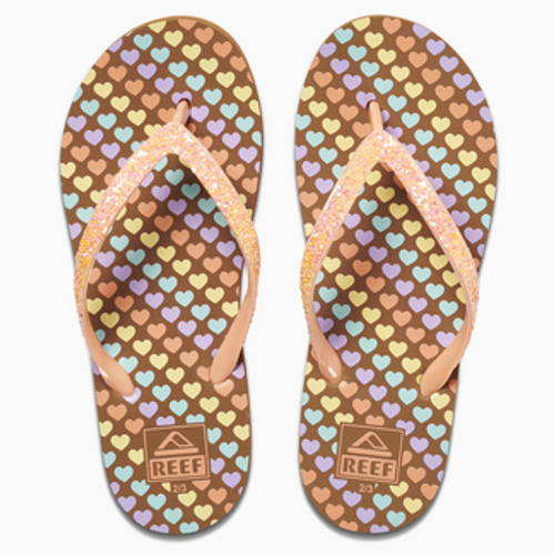Reef Youth Flip Flop - Kids Stargazer Prints - Mini Hearts