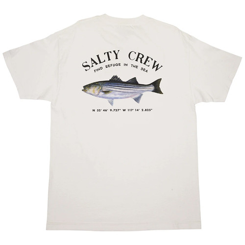 Salty Crew Tee Shirt - Striper Standard - White