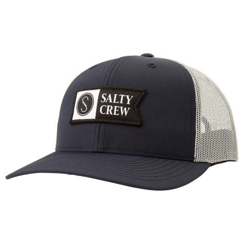 Salty Crew Hat - Pinnacle 2 Retro - Navy/Ice