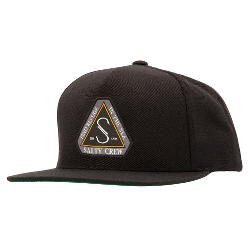 Salty Crew Hat - Triad 6 Panel - Black