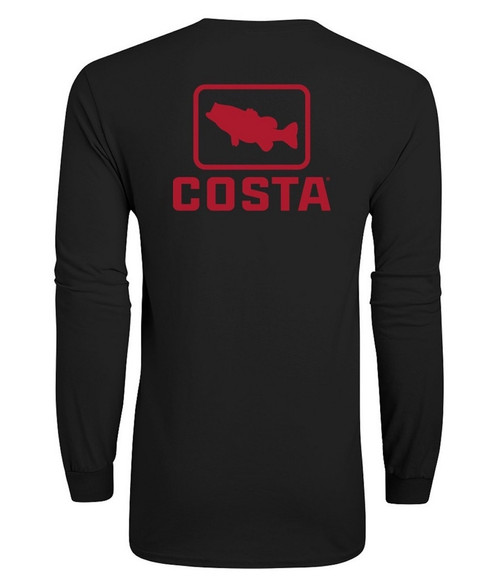 Costa Tee Shirt - Emblem Bass L/S - Black