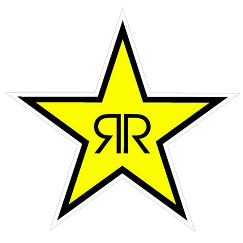 Factory Effex Decals - Rockstar Star 12 Inch - Yellow