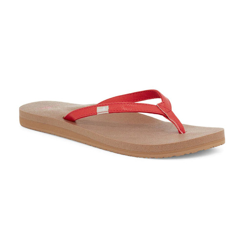 Sanuk Women's Flip Flop - Yoga Joy - Cherry Tomato
