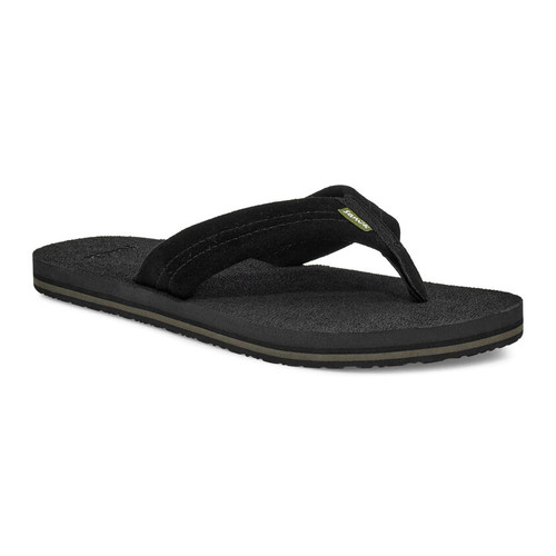 Sanuk Flip Flop - Beer Cozy Stacker Suede - Black
