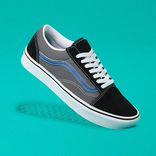 Vans Shoes - Comfy-Cush Old Skool - Tri-Tone Black/Pewter