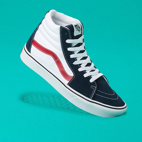 Vans Shoes - Comfy-Cush Sk8-Hi - Tri-Tone Dress Blues/White