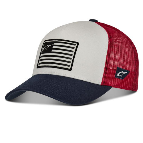 Alpinestars Hat - Flag  - White/Navy/Red